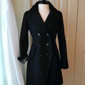 GUESS☆Black Wool Dress Coat